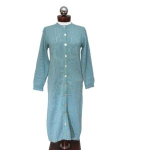 New 50's VINTAGE sweater dress duster cardigan 14